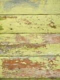 Tablones de madera pintados viejos como fondo Fotos de archivo