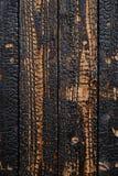 Tablones de madera quemados Fotografía de archivo