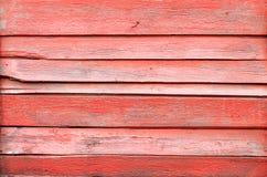 Tablones de madera rojos viejos Foto de archivo libre de regalías