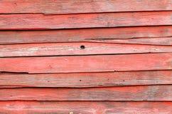 Tablones de madera rojos viejos Imagen de archivo