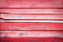 Tablones de madera rojos viejos Fotos de archivo libres de regalías