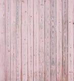 Tablones de madera rosados Fotografía de archivo