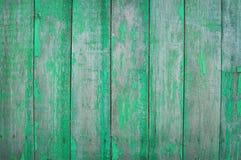 Tablones de madera verdes Foto de archivo libre de regalías