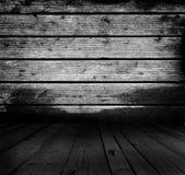 Tablones, piso y pared de madera reales rústicos del Grunge Fotografía de archivo libre de regalías