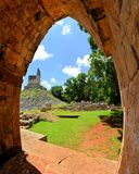Tabna,尤加坦玛雅废墟在Puuc路线的 免版税库存图片