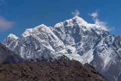 Taboche mountain peak view from Namche Bazaar village, Everest r Stock Photos