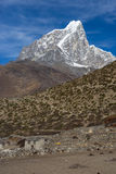 Taboche peak at Dingboche village, Everest region Stock Photos