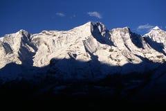 Taboche ridge - Himalaya. Taboche ridge at the sunrise - Himalaya stock photo