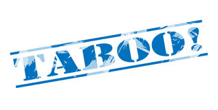 Taboo blue stamp Royalty Free Stock Image