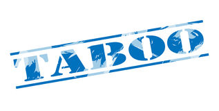 Taboo blue stamp Stock Photos