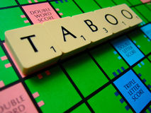 TABOO scrabble Stock Photos