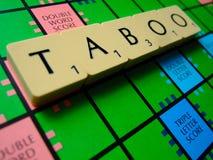 TABOO scrabble Stock Photos