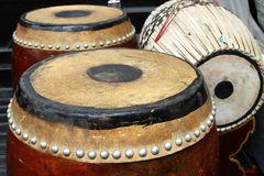 Tabor drum(two-faced drum) Stock Photo