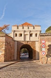 Tabor Gate (1683) of Vysehrad fort in Prague. UNESCO site Stock Photos