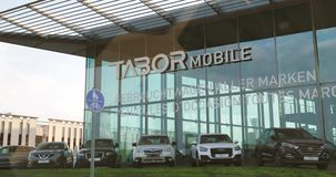 Tabor Mobile German Car Dealer in Baden-Wurttemberg stock video footage