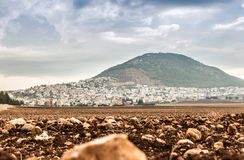 Tabor Mountain and Jezreel Valley in Galilee, Israel Royalty Free Stock Image