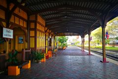 Taborowa tajlandzka stacja fotografia stock
