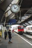 Taborowa Zurich centrali stacja Zdjęcia Royalty Free
