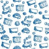 Taborowego doodle bezszwowy wzór Obrazy Royalty Free