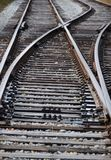 Taborowego szlakowego złącza sztachetowe linie reposition traincars Obrazy Stock