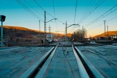 Taborowi ślada Siguenza stacja kolejowa obrazy stock
