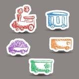 Taborowi doodle majchery Zdjęcie Royalty Free
