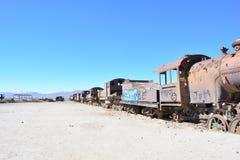 Taborowy cmentarz w Uyuni, Boliwia obrazy stock