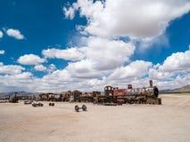 Taborowy cmentarz w Uyuni, boliwijka Fotografia Royalty Free