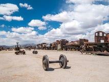 Taborowy cmentarz w Uyuni, boliwijka Fotografia Stock