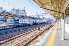 Taborowy czekanie dla pasażera przy Kyoto stacją Obrazy Royalty Free
