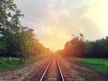 Taborowy kolejowy ślad Obrazy Stock
