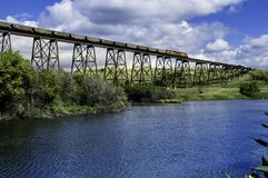 Taborowy most Nad doliną obrazy royalty free