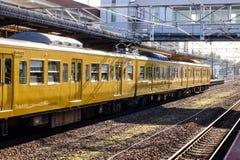 Taborowy powstrzymywanie przy stacją w Hiroszima, Japonia zdjęcia royalty free