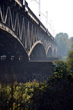 Taborowy stal most w Warszawa Fotografia Royalty Free