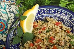 Tabouleh Salat Stockfotos