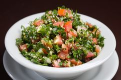 Tabouli Arabic salad royalty free stock photo