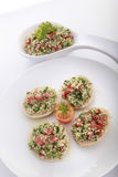 Tabouli on pita bread Royalty Free Stock Image