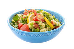 Tabouli salad in blue bowl Stock Photography