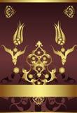 tabouret antique d'or de conception Photo libre de droits