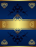 tabouret antique d'or de conception Photos stock