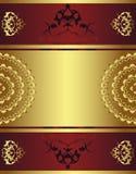tabouret antique d'or de conception Photo stock