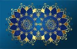 tabouret antique d'or de conception Images stock