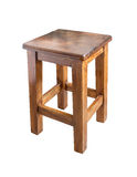 Tabouret en bois d'isolement Images stock