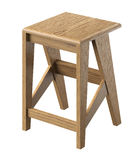 Tabouret en bois d'isolement Photo stock