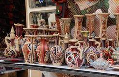 Tabriz, Kandovan, Iran piękni Irańscy tradycyjni naczynia zdjęcie royalty free