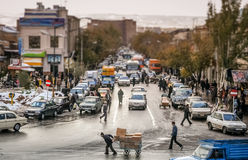 Tabriz street scene Stock Photos