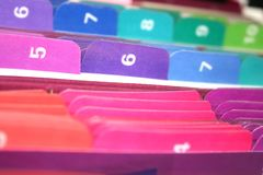Tabs of Files Royalty Free Stock Photo