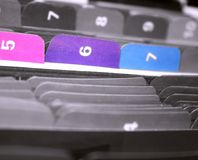 Tabs of Files. Coloful files in the cabinet Royalty Free Stock Photos