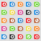Tabs with Icons Stock Photography