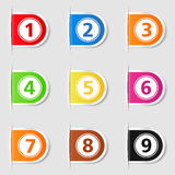 Tabs with Numbers Stock Photos